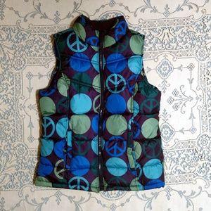 GAP Peace Puffer Vest Size XL